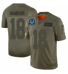 Men's Indianapolis Colts #18 Peyton Manning Limited Camo 2019 Salute to Service Football Jersey