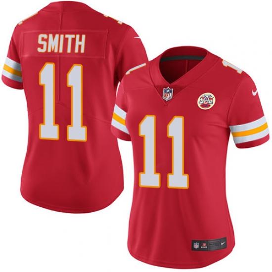 Women s Nike Kansas City Chiefs  11 Alex Smith Red Team Color Vapor  Untouchable Limited Player 4ad475e63