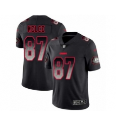 Men's Kansas City Chiefs #87 Travis Kelce Limited Black Smoke Fashion Football Jersey