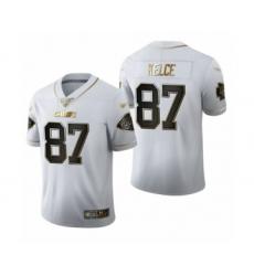 Men's Kansas City Chiefs #87 Travis Kelce Limited White Golden Edition Football Jersey